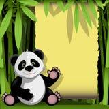 δασικό ευχάριστα panda μπαμπού διανυσματική απεικόνιση