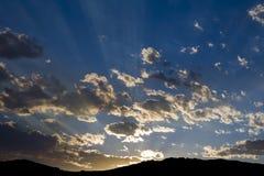 δασικό ηλιοβασίλεμα κα&p Στοκ Εικόνα