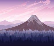 δασικό ηφαίστειο Ελεύθερη απεικόνιση δικαιώματος