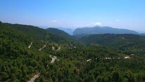 Δασικό κεντρικό βουνό της Σκοπέλου νησιών της Ελλάδας απόθεμα βίντεο