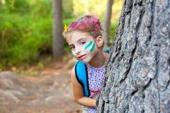 δασικό κορίτσι παιδιών ε&upsilon Στοκ Εικόνα