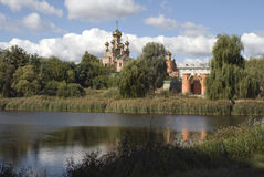 δασικό μοναστήρι holosiyiv kyiv στοκ εικόνα
