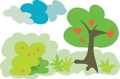 δασικό οπωρωφόρο δέντρο Στοκ εικόνα με δικαίωμα ελεύθερης χρήσης