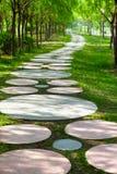 δασικό περπάτημα μονοπατιώ Στοκ φωτογραφία με δικαίωμα ελεύθερης χρήσης