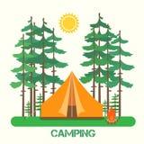 Δασικό στρατόπεδο απεικόνιση αποθεμάτων