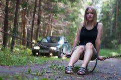 Δασικό συναγωνιμένος κορίτσι Στοκ φωτογραφίες με δικαίωμα ελεύθερης χρήσης
