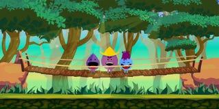 Δασικό υπόβαθρο παιχνιδιών απεικόνιση αποθεμάτων