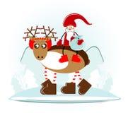 δασικό santa ελαφιών Claus Χριστο&ups Στοκ φωτογραφία με δικαίωμα ελεύθερης χρήσης