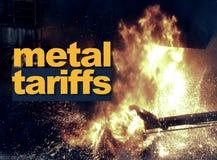 Δασμολόγια μετάλλων, εμπορικός πόλεμος ελεύθερη απεικόνιση δικαιώματος