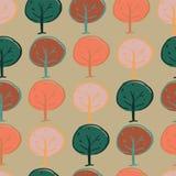 Δασόβιος άνευ ραφής δέντρων επαναλαμβάνει το σχέδιο σχεδίων απεικόνιση αποθεμάτων