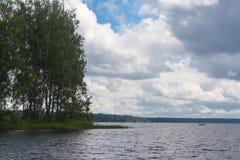 Δασώδες νησί στη λίμνη στοκ φωτογραφία με δικαίωμα ελεύθερης χρήσης