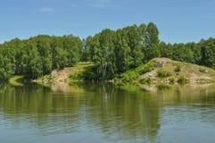 δασώδης περιοχή λιμνών Στοκ φωτογραφία με δικαίωμα ελεύθερης χρήσης