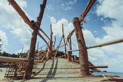 Δασώδης γέφυρα Στοκ φωτογραφίες με δικαίωμα ελεύθερης χρήσης