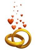 δαχτυλίδια αγάπης Διανυσματική απεικόνιση