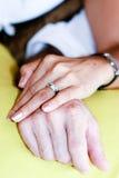 δαχτυλίδια αρραβώνων Στοκ Φωτογραφίες