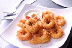 Δαχτυλίδια καλαμαριών Calamari Στοκ Εικόνα