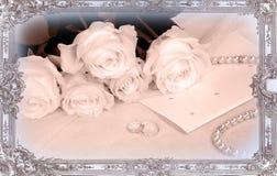 δαχτυλίδια καρτών ανθοδεσμών Στοκ Εικόνα