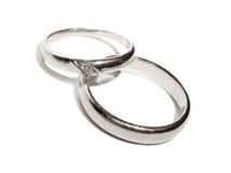 δαχτυλίδια λευκόχρυσ&omicr Στοκ Εικόνα