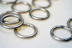 δαχτυλίδια 1 μετάλλου Στοκ φωτογραφίες με δικαίωμα ελεύθερης χρήσης