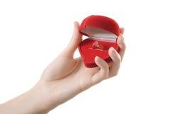 δαχτυλίδι αγάπης καρδιών &ch Στοκ φωτογραφία με δικαίωμα ελεύθερης χρήσης