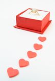 δαχτυλίδι αρραβώνων διαμαντιών Στοκ εικόνα με δικαίωμα ελεύθερης χρήσης