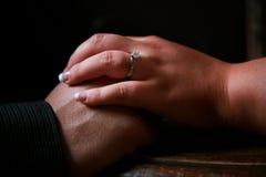 δαχτυλίδι αρραβώνων Στοκ Φωτογραφία