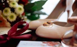 Δαχτυλίδι γαμήλιων νυφών Στοκ Εικόνες