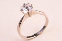 δαχτυλίδι διαμαντιών Στοκ φωτογραφίες με δικαίωμα ελεύθερης χρήσης