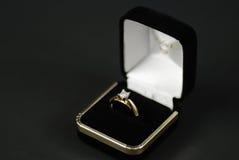 δαχτυλίδι διαμαντιών Στοκ Εικόνα