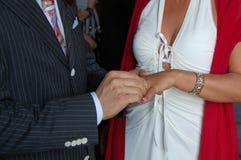 δαχτυλίδι θέσεων νεόνυμφ&o Στοκ φωτογραφία με δικαίωμα ελεύθερης χρήσης