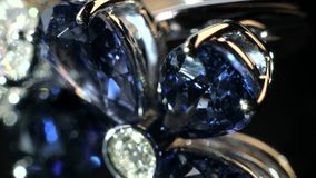 Δαχτυλίδι λουλουδιών Dimond απόθεμα βίντεο