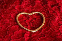 δαχτυλίδι στη δαντέλλα στοκ φωτογραφίες με δικαίωμα ελεύθερης χρήσης