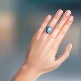 Δαχτυλίδι στο δάχτυλο διανυσματική απεικόνιση