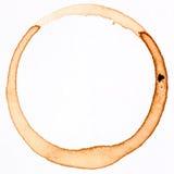 δαχτυλίδι φλυτζανιών καφέ Στοκ εικόνα με δικαίωμα ελεύθερης χρήσης