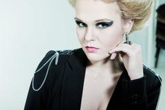 δαχτυλίδι χεριών μόδας πρ&omicr Στοκ Εικόνες
