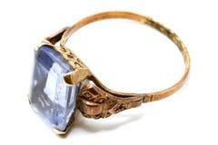 δαχτυλίδι aquamarine 2 Στοκ Εικόνες
