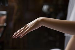 δαχτυλίδι s νυφών Στοκ εικόνες με δικαίωμα ελεύθερης χρήσης