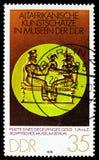 Δαχτυλίδι Signet, παλαιοί αφρικανικοί θησαυροί τέχνης serie, circa 1978 στοκ φωτογραφία με δικαίωμα ελεύθερης χρήσης