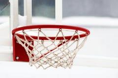 Δαχτυλιδιών καλαθοσφαίρισης γυμνασίων κόκκινων και άσπρων χρώματα, Στοκ εικόνα με δικαίωμα ελεύθερης χρήσης