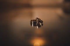 Δαχτυλίδια αρραβώνων Στοκ Εικόνες