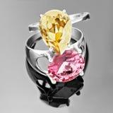 Δαχτυλίδια διαμαντιών Στοκ Εικόνες