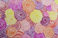Δαχτυλίδια Doodled Στοκ Εικόνες
