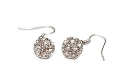 Δαχτυλίδι αυτιών με τα διαμάντια Στοκ φωτογραφία με δικαίωμα ελεύθερης χρήσης