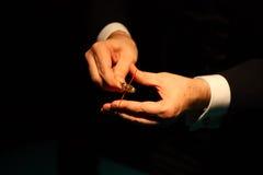 Δαχτυλίδι εκμετάλλευσης μάγων κινηματογραφήσεων σε πρώτο πλάνο στοκ φωτογραφία με δικαίωμα ελεύθερης χρήσης