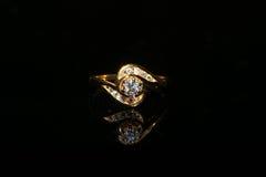 Δαχτυλίδι και πολύτιμος λίθος διαμαντιών κοσμημάτων Στοκ Εικόνες