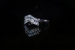 Δαχτυλίδι και πολύτιμος λίθος διαμαντιών κοσμημάτων Στοκ Φωτογραφία