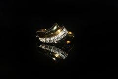 Δαχτυλίδι και πολύτιμος λίθος διαμαντιών κοσμημάτων Στοκ εικόνα με δικαίωμα ελεύθερης χρήσης