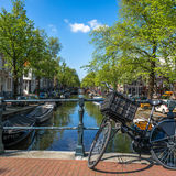 Δαχτυλίδι καναλιών στο Άμστερνταμ Στοκ Φωτογραφία