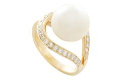 Δαχτυλίδι μαργαριταριών Στοκ Εικόνες