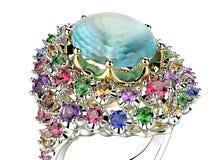 Δαχτυλίδι με το διαμάντι Υπόβαθρο κοσμήματος μόδας Στοκ εικόνα με δικαίωμα ελεύθερης χρήσης